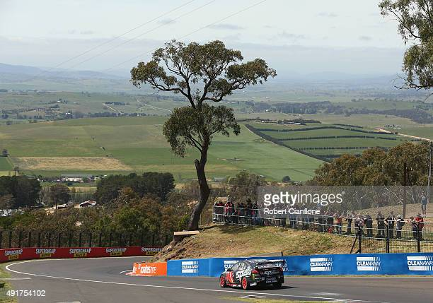 Garth Tander drives the Holden Racing Team Holden during practice for the Bathurst 1000 which is race 25 of the V8 Supercars Championship at Mount...