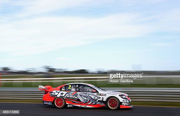 Garth Tander drives the Holden Racing Team Holden during the Sandown 500 which is race 29 of the V8 Supercar Championship Series at Sandown...