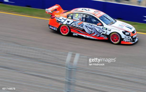 Garth Tander drives the Holden Racing Team Holden during the top ten shoot out for race 22 of the Townsville 500 which is round seven of the V8...