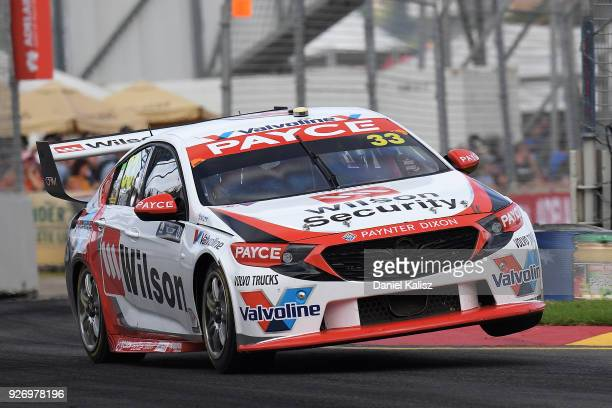 Garth Tander drives the Wilson Security Racing GRM Holden Commodore ZB during race 2 for the Supercars Adelaide 500 on March 2 2018 in Adelaide...