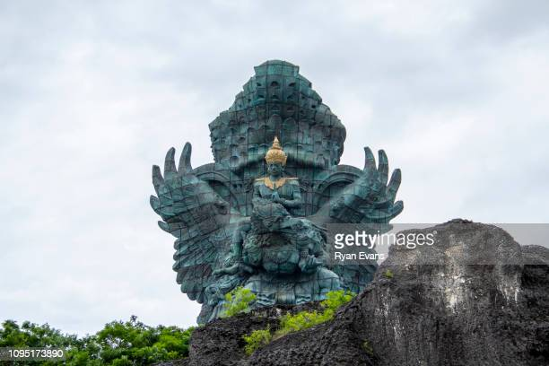 garuda wisnu kencana statue or gwk statue in bali. - {{asset.href}} stock pictures, royalty-free photos & images