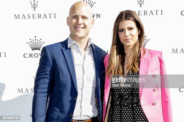 Gary Ablett and Jordan Ablett arrives ahead of the 2018 Crown IMG Tennis Player at Crown Palladium on January 14 2018 in Melbourne Australia