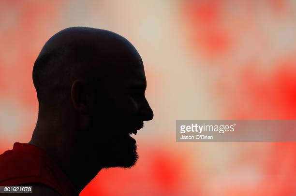 Gary Ablett is seen during a Gold Coast Suns AFL training session at Metricon Stadium on June 27, 2017 in Gold Coast, Australia.