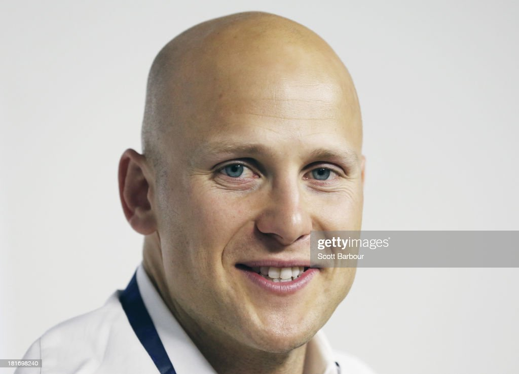 Gary Ablett Jnr of the Gold Coast poses with the Brownlow medal at AFL House on September 24, 2013 in Melbourne, Australia. Ablett won the 2013 AFL Brownlow medal last night.