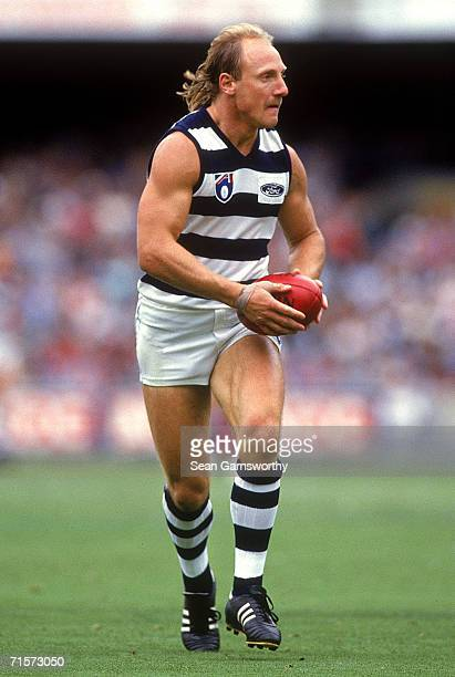Gary Ablett of the Cats in action during the round 16 AFL match between the Melbourne Demons and the Geelong Cats at the Melbourne Cricket Ground...