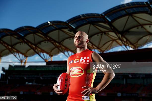 Gary Ablett of the Gold Suns poses for a portrait at Metricon Stadium on June 19 2017 in Gold Coast Australia Ablett will play his 300th AFL game...