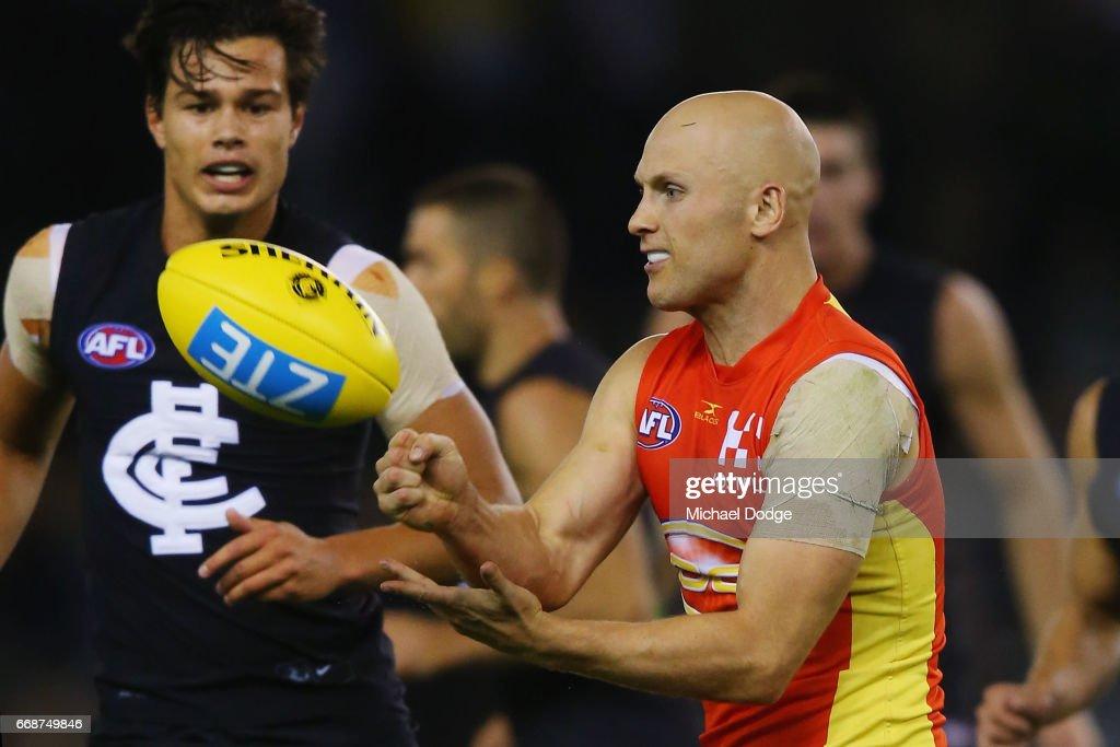 AFL Rd 4 - Carlton v Gold Coast : News Photo