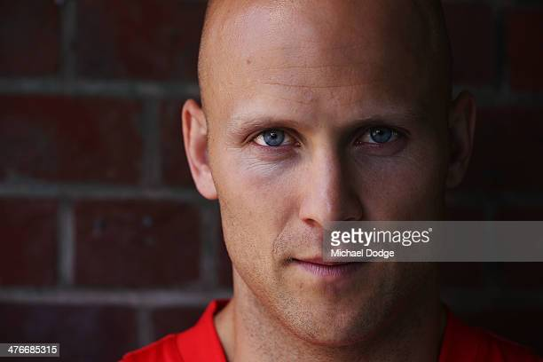 Gary Ablett of the Suns poses during the 2014 AFL Season Launch at Adelaide Oval on March 5 2014 in Adelaide Australia