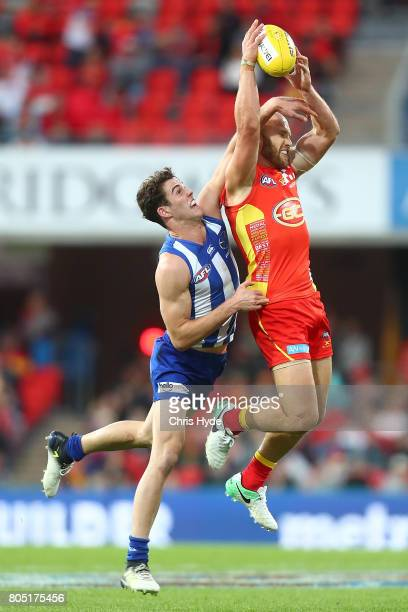Gary Ablett of the Suns takes a mark during the round 15 the Gold Coast Suns and the North Melbourne Kangaroos at Metricon Stadium on July 1 2017 in...