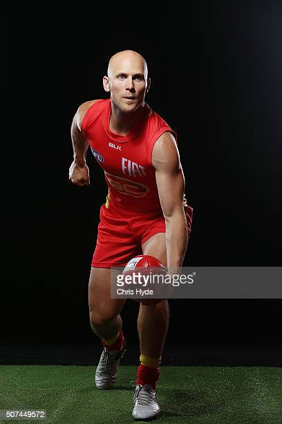 Gary Ablett poses during a Gold Coast Suns AFL portrait session on January 28 2016 in Gold Coast Australia