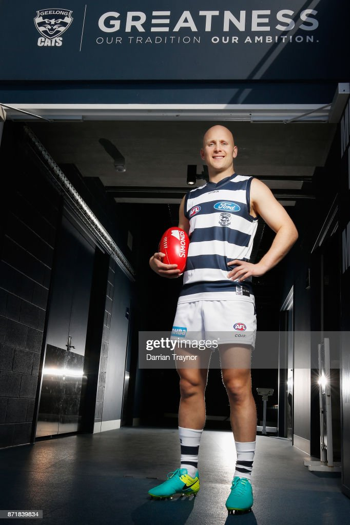 Gary Ablett poses for a photo a Geelong Cats AFL media opportunity at GMBHA Stadium on November 9, 2017 in Geelong, Australia.