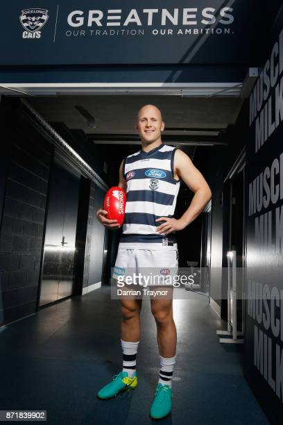 Gary Ablett poses for a photo a Geelong Cats AFL media opportunity at GMBHA Stadium on November 9 2017 in Geelong Australia