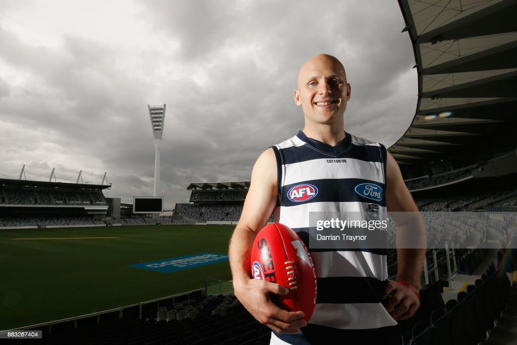 Gary Ablett poses for a photo during a Geelong Cats Media Session at GMHBA Stadium on December 1, 2017 in Geelong, Australia.