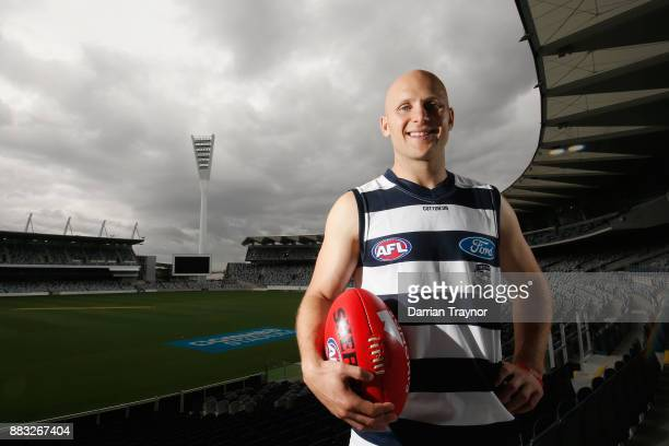 Gary Ablett poses for a photo during a Geelong Cats Media Session at GMHBA Stadium on December 1 2017 in Geelong Australia