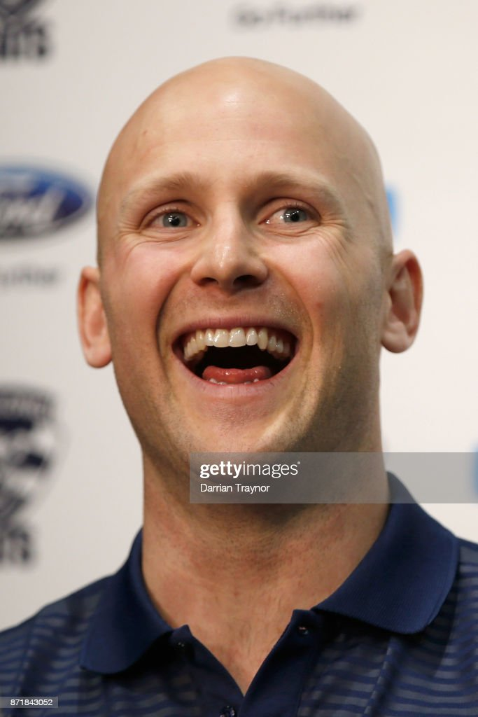 Gary Ablett speaks to the media during a Geelong Cats AFL media opportunity at GMBHA Stadium on November 9, 2017 in Geelong, Australia.