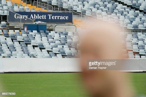 Gary Ablett speaks to the media during a Geelong Cats Media Session at GMHBA Stadium on December 1 2017 in Geelong Australia