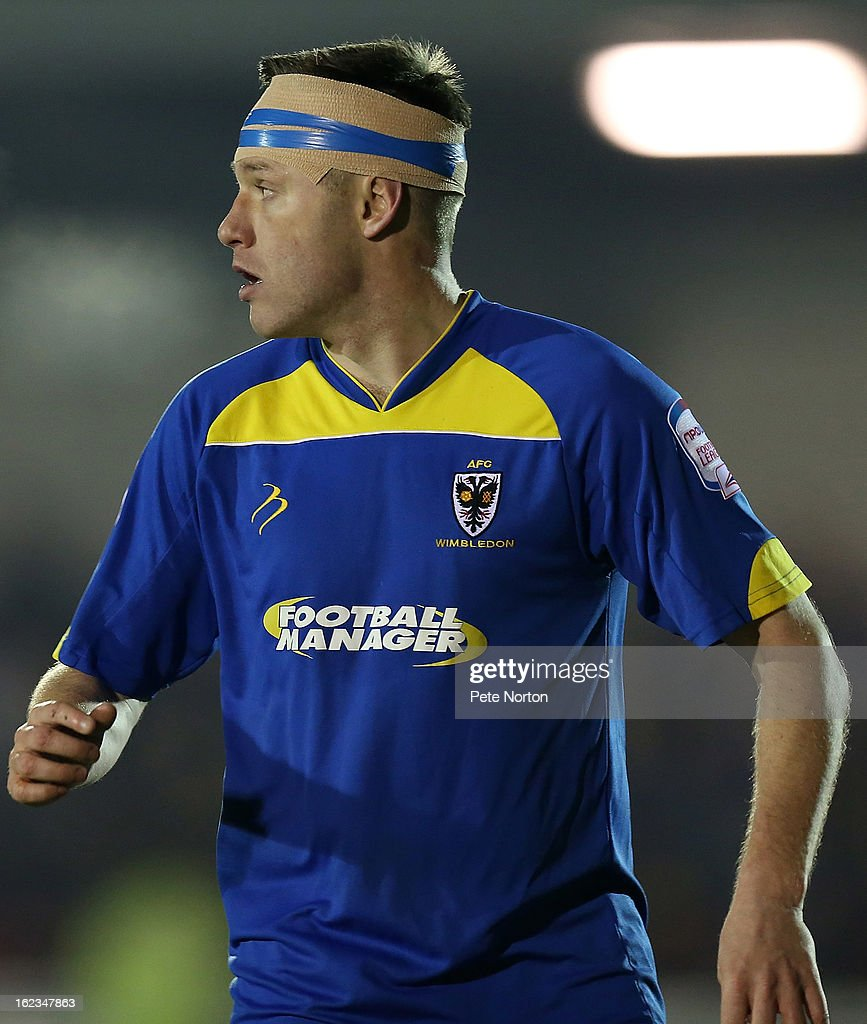 Gary Alexander of AFC Wimbledon in action during the npower League Two match between AFC Wimbledon and Northampton Town at The Cherry Red Records Stadium on February 19, 2013 in Kingston upon Thames, England.