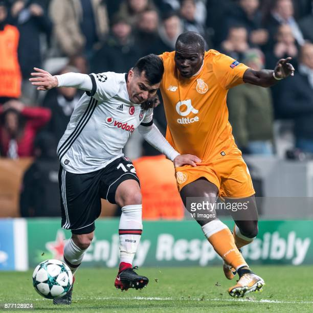 Gary Alexis Medel Soto of Besiktas JK Vincent Aboubakar of FC Porto during the UEFA Champions League group G match between Besiktas JK and FC Porto...