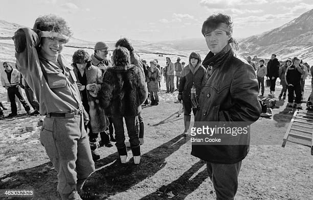 LR Gary and Martin Kemp of Spandau Ballet photographed on location in the Kirkstone Pass Lake District Cumbria during the shooting of a promotional...