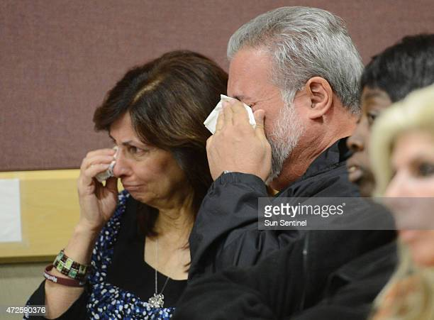 Gary and Natalie Catronio parents of Marisa Catronio listen to the apology of Kayla Mendoza after she pleaded guilty Wednesday Feb 18 at the Broward...