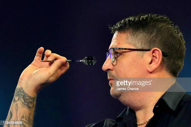 Gary Anderson of Scotland in action during the Second Round match between Gary Anderson and Brendan Dolan on Day 4 of the 2020 William Hill World...