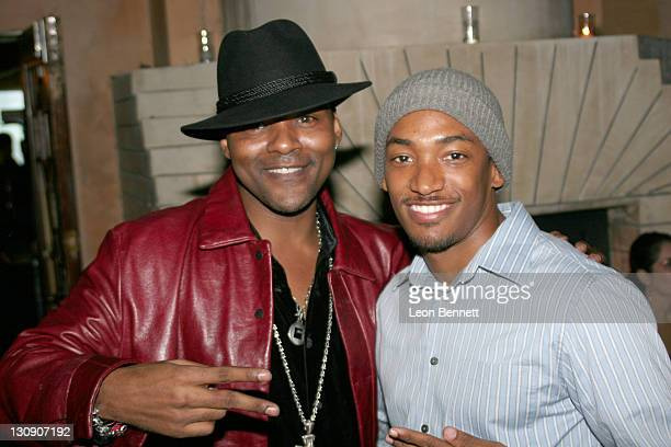 Gary Anthony Sturgis and Brandon Fobbs during Antonio Tarver Presents MGM's Rocky Balboa Premiere Release KickOff Bash at The Garden of Eden in Los...