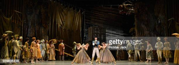 Gary Avis as The Gaoler with artists of the company in the Royal Ballet's production of Kenneth MacMillan's Manon at the Royal Opera House on March...