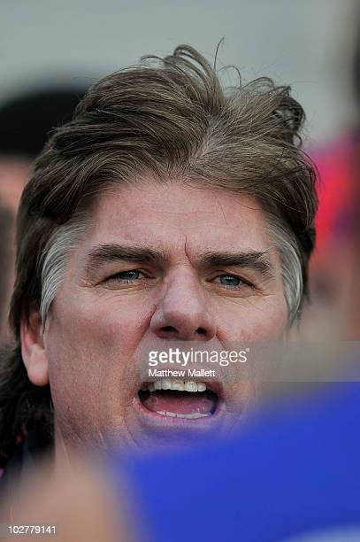 Gary Ayres of Port Melbourne speaks to his team during the round 12 VFL match between Port Melbourne and the Bendigo Bombers at TEAC Oval on July 10...
