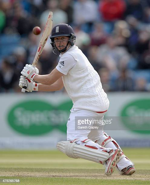 Gary Ballance of England bats during day two of 2nd Investec Test match between England and New Zealand at Headingley on May 30 2014 in Leeds England