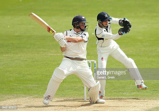 Gary Ballance of Yorkshire bats during day four of the Specsavers County Championship division one match between Yorkshire and Middlesex at North...