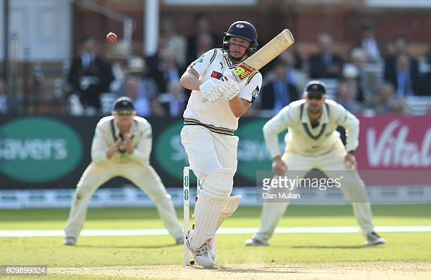 Gary Ballance of Yorkshire bats during day four of the Specsavers County Championship match between Middlesex and Yorkshire at Lords on September 23...