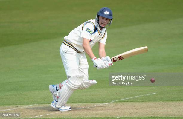 Gary Ballance of Yorkshire bats during day one of the LV County Championship division One match between Yorkshire and Northamptonshire at Headingley...