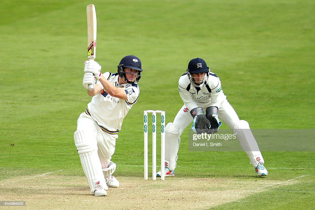 Gary Ballance of Yorkshire bats during day one of the Specsavers County Championship division one match between Yorkshire and Middlesex at North Marine Road on July 3, 2016 in Scarborough, England.