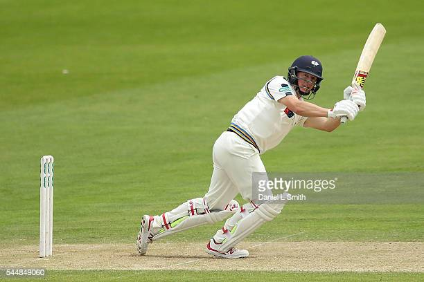 Gary Ballance of Yorkshire bats during day two of the Specsavers County Championship division one match between Yorkshire and Middlesex at North...