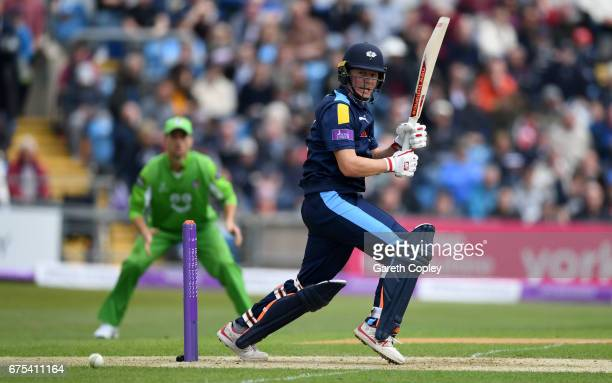 Gary Ballance of Yorkshire bats during the Royal London OneDay Cup match between Yorkshire and Lancashire at Headingley on May 1 2017 in Leeds England