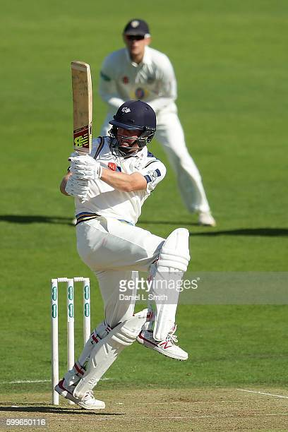 Gary Ballance of Yorkshire bats during the Specsavers County Championship Division One match between Yorkshire and Durham at Headingley on September...