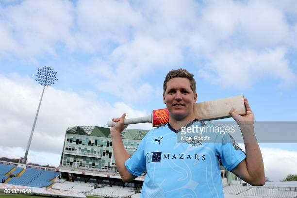 Gary Ballance of Yorkshire poses for a portrait during their press day at Headingley on April 5 2017 in Leeds England