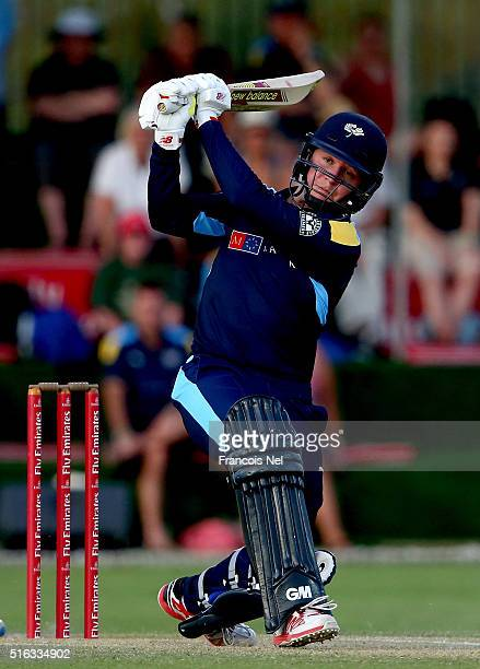 Gary Ballance of Yorkshire Vikings bats during the Emirates Airline T20 Cup Final match between Lancashire Lightning and Yorkshire Vikings at the...