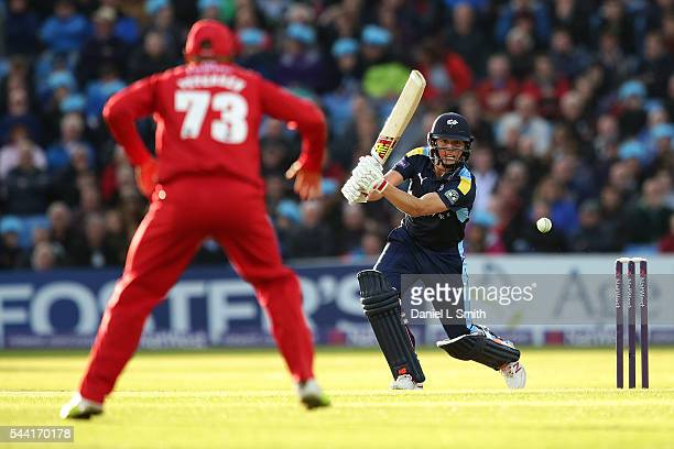 Gary Ballance of Yorkshire Vikings bats during the NatWest T20 Blast match between Yorkshire Vikings and Lancashire Lightning at Headingley on July 1...