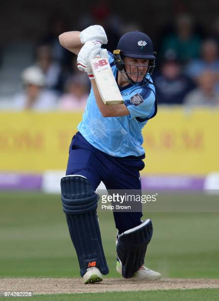 Gary Ballance of Yorkshire Vikings bats during the Royal London OneDay Cup match between Essex Eagles and Yorkshire Vikings at the Cloudfm County...