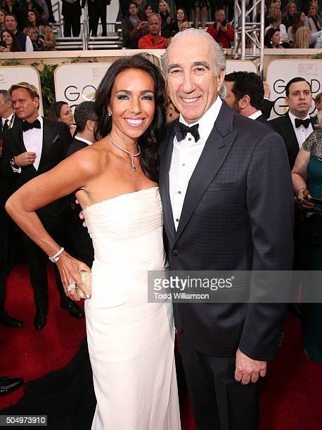 Gary Barber Chairman and Chief Executive Officer of MetroGoldwynMayer and wife Nadine Barber attend the 73rd Annual Golden Globe Awards at The...