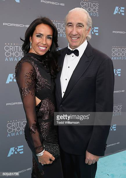 Gary Barber Chairman and Chief Executive Officer of MetroGoldwynMayer and wife Nadine Barber attends the 21st Annual Critics' Choice Awards at Barker...