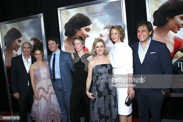 Gary Barber Emilia Clarke Sam Claflin Thea Sharrock Jojo Moyes Janet McTeer and Jonathan Glickman attend the Me Before You World Premiere at AMC...