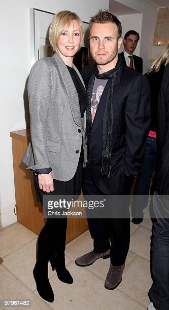Gary Barlow and Dawn Barlow attend the Kick-Ass European Film Premiere after-party at director Matthew Vaughn's house on March 22, 2010 in London,...