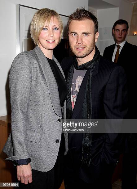 Gary Barlow and Dawn Barlow attend the KickAss European Film Premiere afterparty at director Matthew Vaughn's house on March 22 2010 in London...