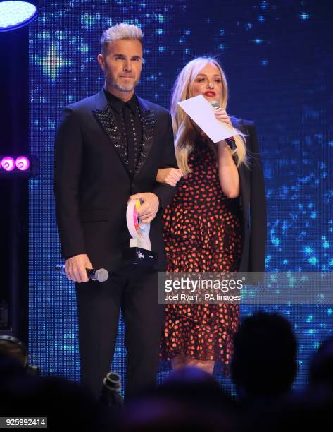 Gary Barlow and Emma Bunton at The Global Awards a brand new awards show hosted by Global the Media Entertainment group at London's Eventim Apollo...