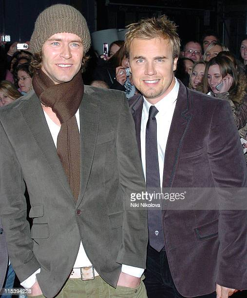 Gary Barlow and Howard Donald during 'Take That Never Forget The Ultimate Collection' Preview Screening Arrivals at Coronet Cinema Notting Hill in...