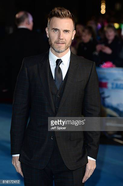 Gary Barlow arrives for the European premiere of 'Eddie The Eagle' at Odeon Leicester Square on March 17 2016 in London England