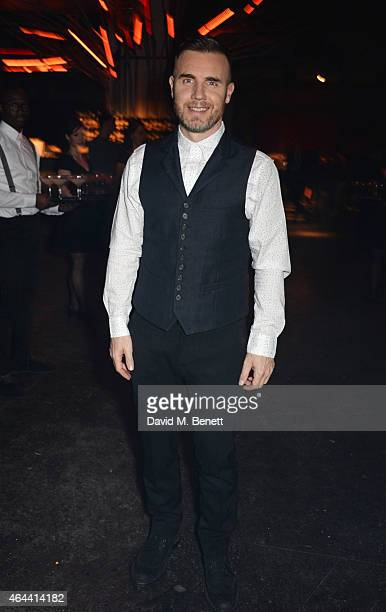 Gary Barlow attends the Universal Music Brits party hosted by Bacardi at The Soho House PopUp on February 25 2015 in London England