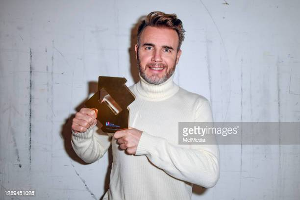 Gary Barlow celebrates 'Music Played By Humans' becoming his third UK Number One album on December 04, 2020 in London, England.